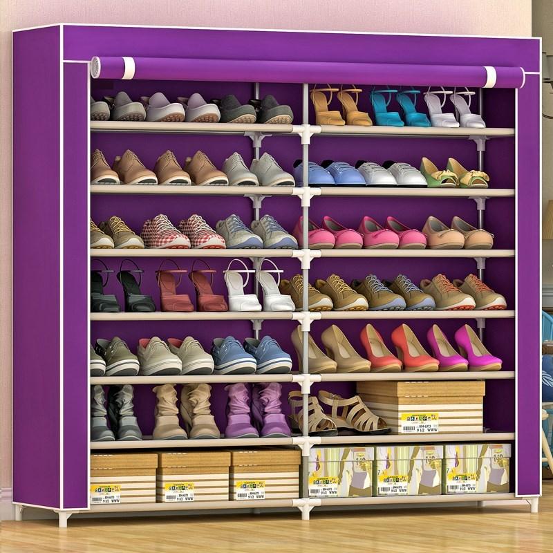 家用经济型家里人简易防尘鞋架特价多功能大容量防水无纺布鞋柜