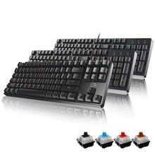 Official flagship store, excellent mechanical keyboard dk100 black green black tea axis game cable 87/104 key notebook desktop USB interface computer home office