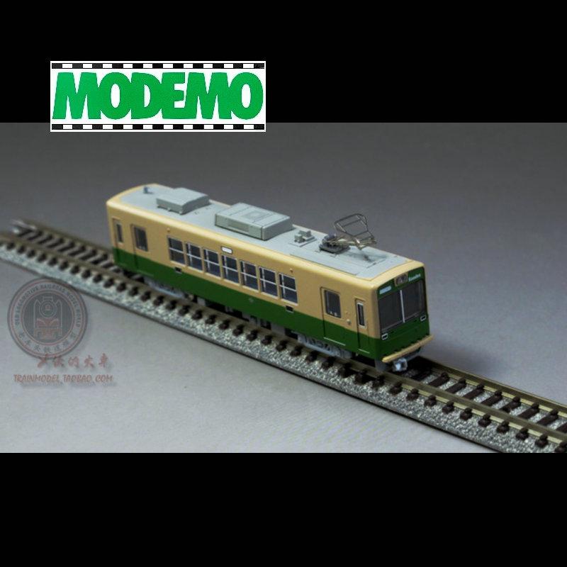 火车女侠模型N型日本MODEMO   重涂装 增节无动力 京福电铁车