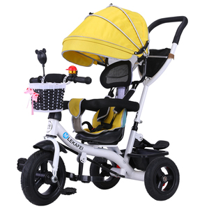 Children's tricycle cart stroller rotary seat 1-3-6 baby anti-rollover stroller bike