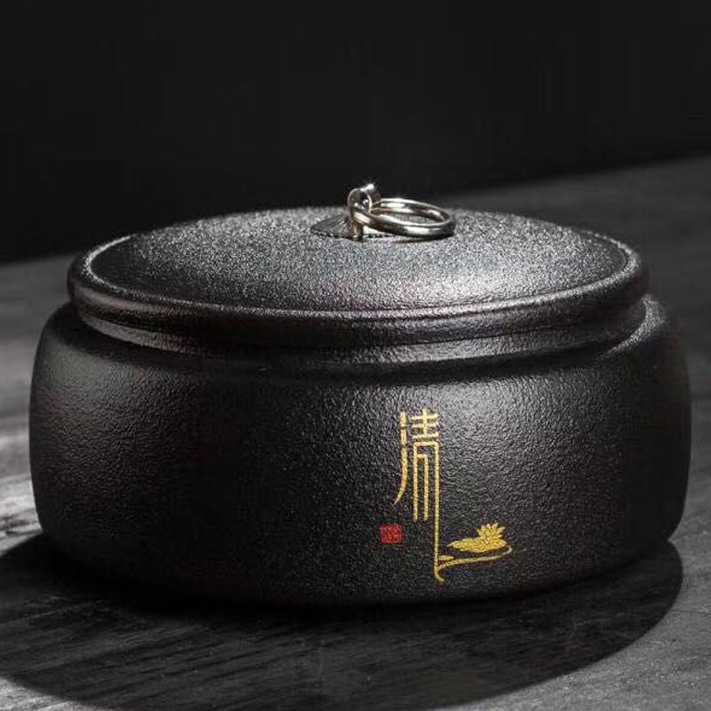 普洱茶叶罐陶瓷密封罐防潮大号仿古粗陶普洱罐特大家用茶罐茶叶桶