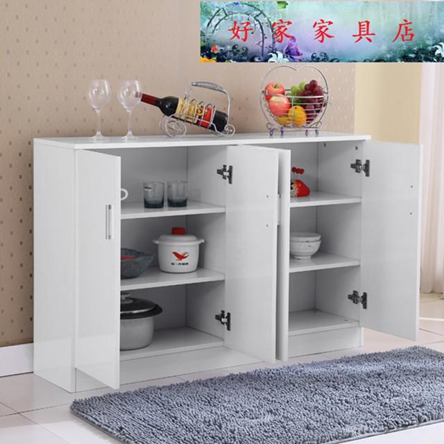 简约现代橱柜储物柜鞋柜餐边柜橱柜阳台柜组装经济型简易收纳小碗