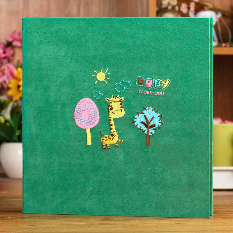 婴儿日记记录册宝宝成长粘贴式儿童纪念册diy相册手工影集本礼物