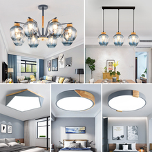Nordic lamps living room modern minimalist atmosphere elf restaurant, bedroom 2019 new living room Chandelier