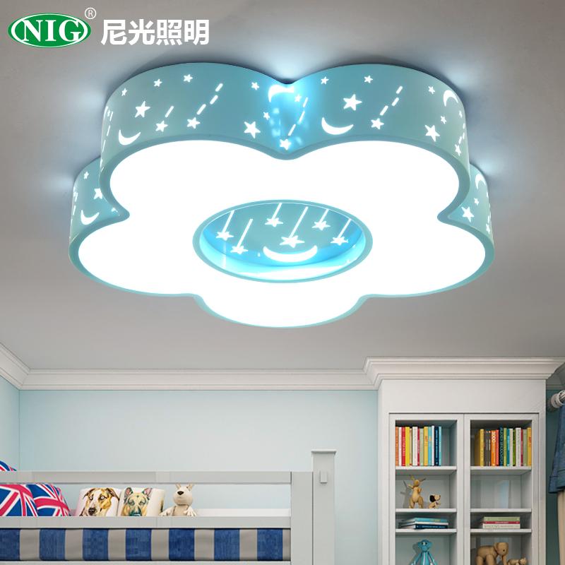尼光儿童房吸顶灯女孩男孩公主卧室灯简约现代幼儿园房间卡通灯具