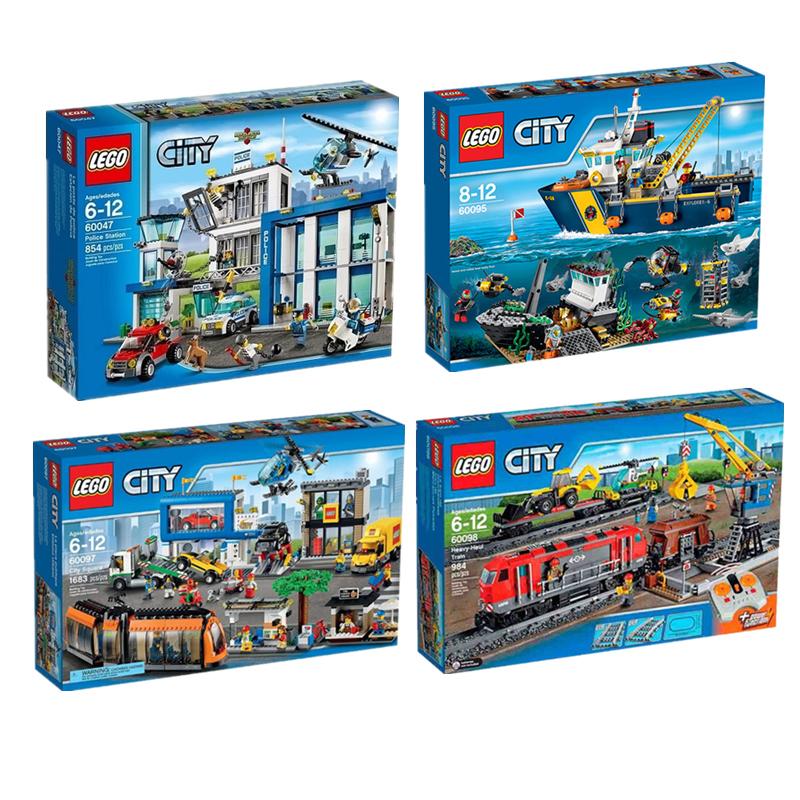 乐高LEGO城市60047警察局60095勘探船60097广场电车60098重载列车