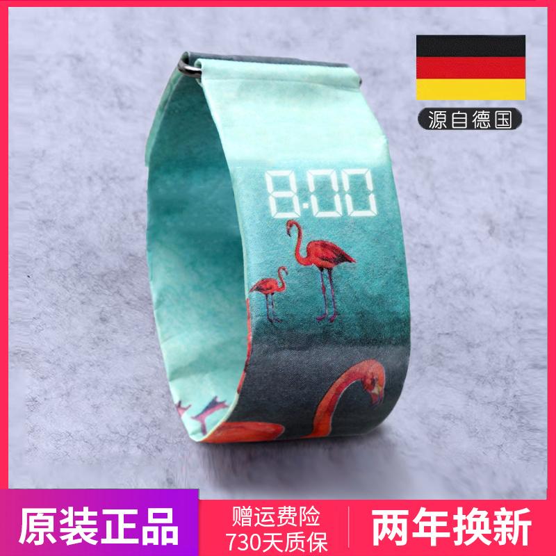 纸手表Papr德国watch男女学生电子韩版潮流情侣创意个性防水手表