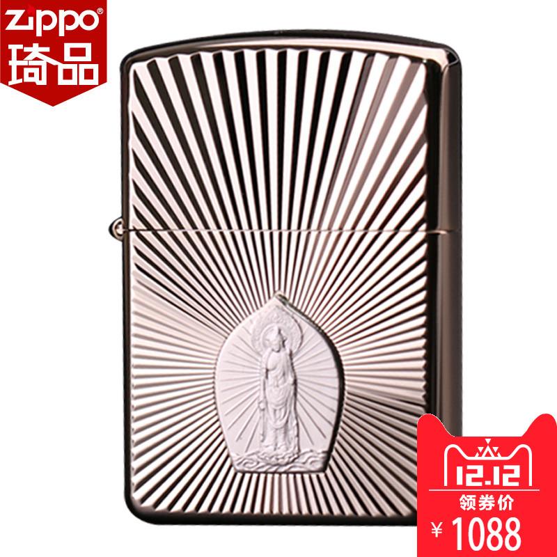 正品zippo打火机美国正版男士zppo原装zipoo芝宝zipp银观音zp限量