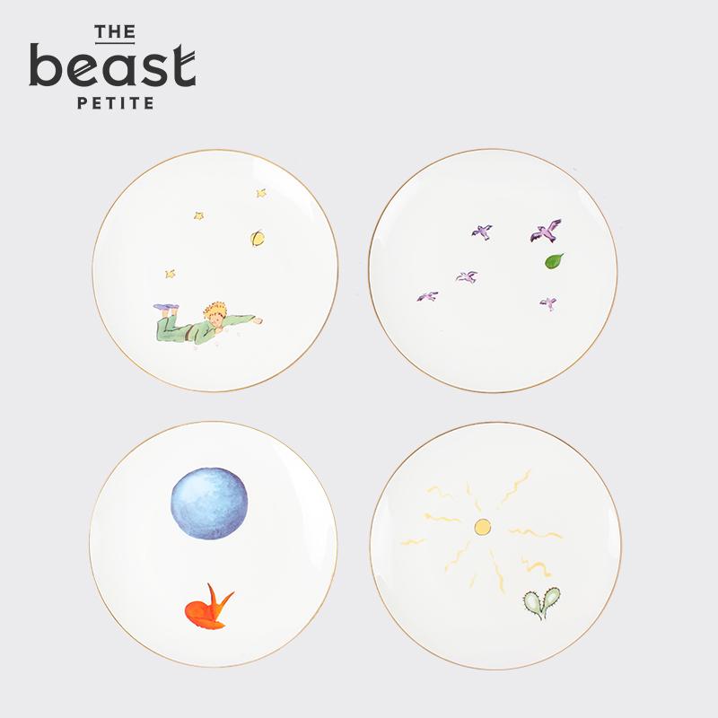 THE BEAST/野兽派 幸福的小王子骨瓷餐盘4件套 时髦盘子