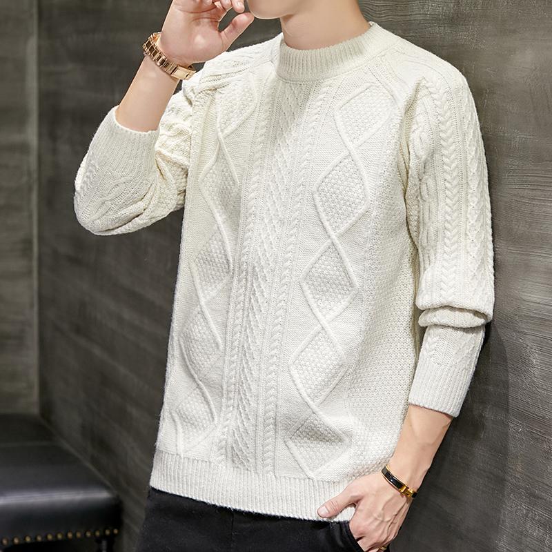 2020秋季新款男装纯色毛衣圆领长袖针织衫百搭打底毛衫MAI-853 -