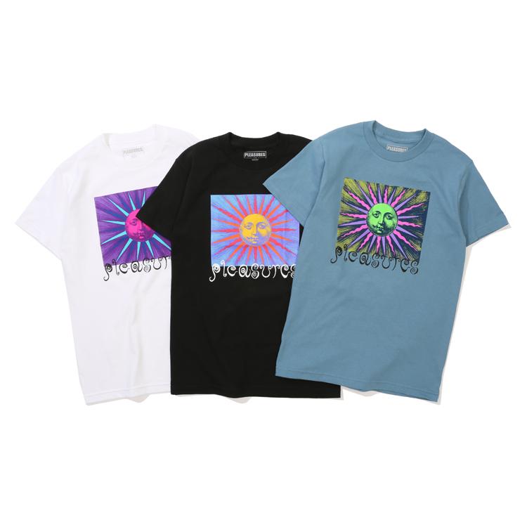 现货 潮玩艺 PLEASURES 19SS OBSESSION T-SHIRT 太阳印花短袖T恤