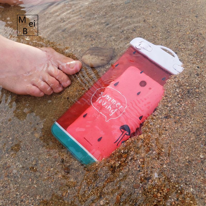 加厚水下拍照 配挂绳 雨天手机防水袋游泳潜水套可触屏苹果通用款