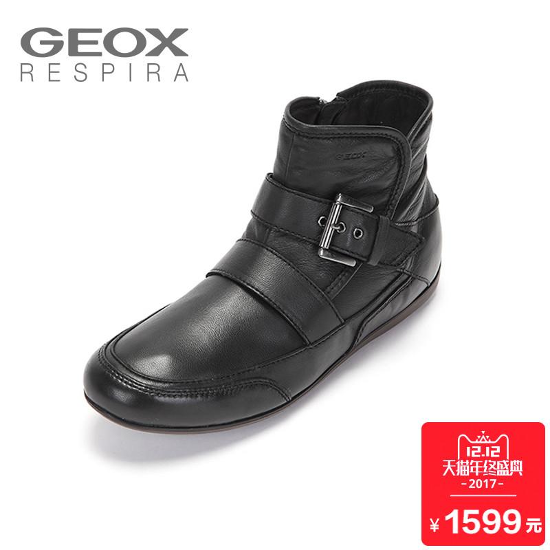 聚GEOX/健乐士冬季保暖女式高帮鞋柔软女鞋D3460D折