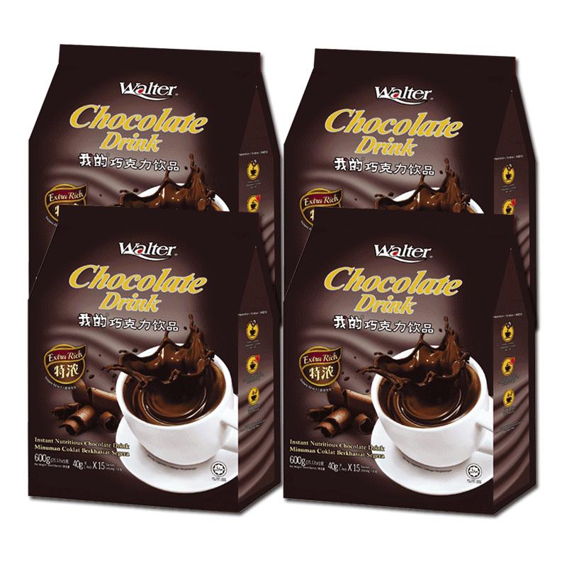 我的热巧克力粉600gx4袋装 马来西亚进口可可粉代餐粉速溶冲饮品