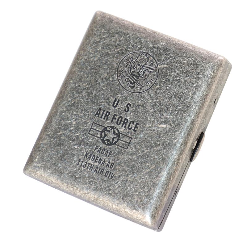 KUBOY/酷宝 古银铜烟盒20支装 便携翻盖防压军队男复古香烟盒刻字