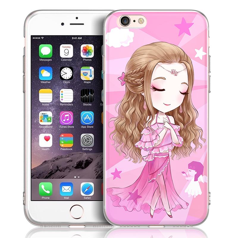 苹果6手机壳女款挂绳挂脖iphone6s硅胶套6plus软壳防摔韩国卡通潮
