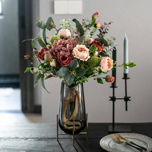 Southern Cross Star northern Europe light luxury simulation bouquet rose living room table artificial flower suit silk flower decoration