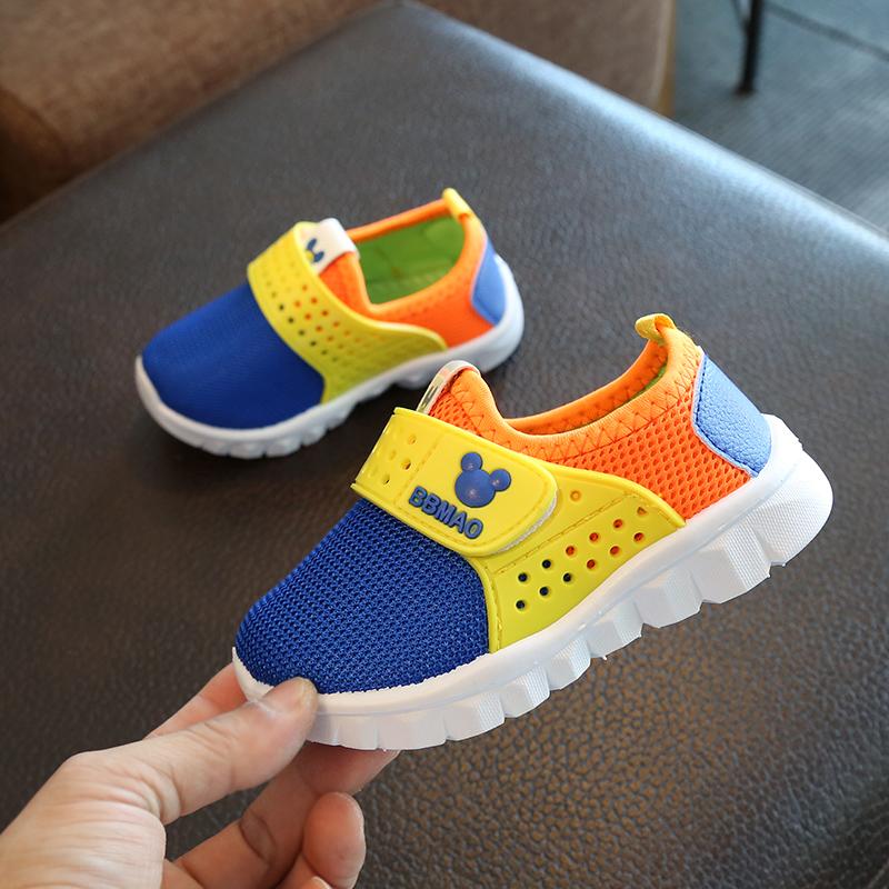 新款春秋童鞋儿童运动鞋男童网鞋防滑透气软底女童单鞋宝宝休闲鞋