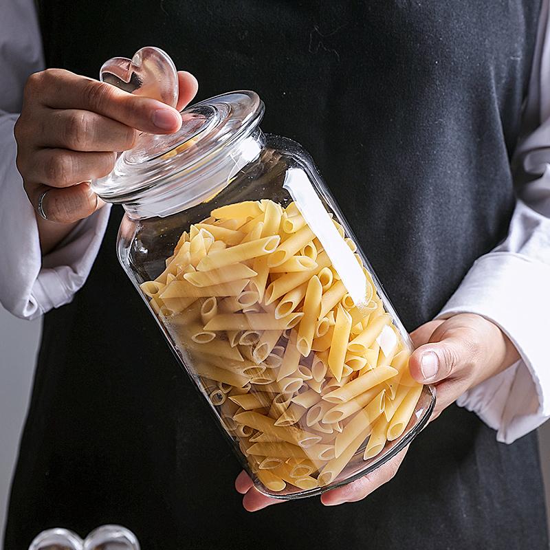 玻璃瓶子密封罐带盖储物瓶加厚大号食品坚果茶叶罐透明糖果蜂蜜瓶