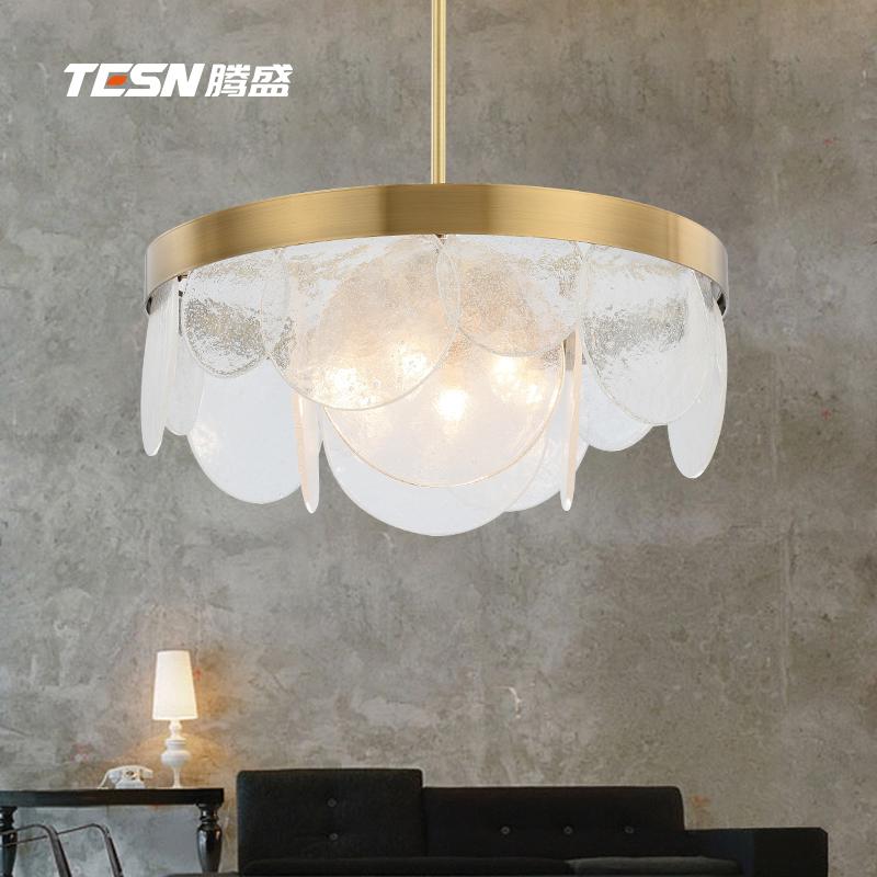 后现代客厅吊灯简约创意时尚轻奢餐厅灯个性玻璃卧室书房北欧吊灯-腾盛旗舰店