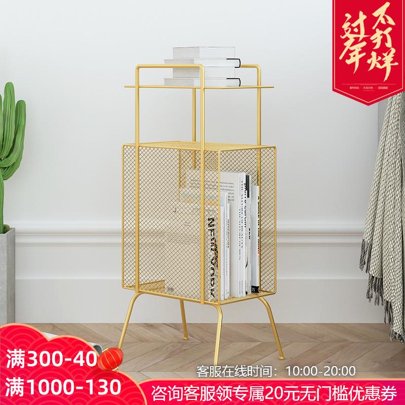 [¥70]北欧铁艺床头柜置物架迷你简易免安装收纳简约现代床边小柜子窄款