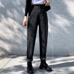 秋冬装2020年新款大码女装冬季时尚搭配气质女裤胖妹妹显瘦牛仔裤图片
