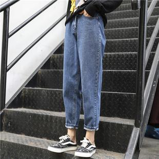 2020年早秋款新款大码女装显瘦微胖妹妹初秋装穿搭洋气牛仔裤潮流图片