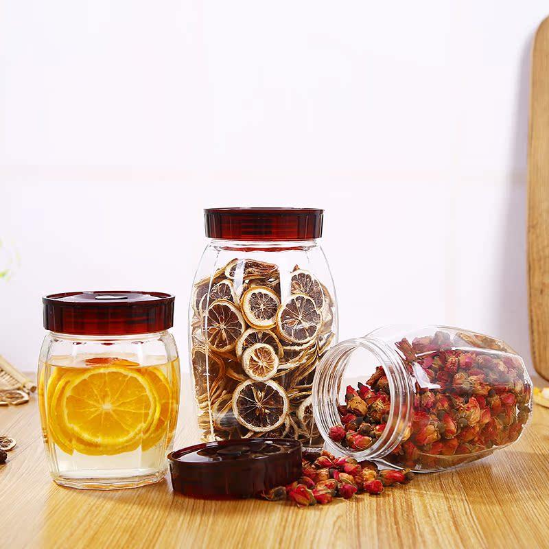 水果酵素瓶腌酱泡菜密封罐玻璃杂粮储物罐大号茶叶干果柠檬蜂蜜罐