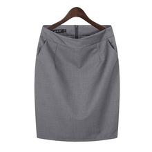 职业包裙包at2半身裙女75裙子工作裙西装裙黑色正装裙一步裙