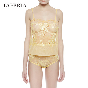 La Perla Maharani Collection Lace Flower Strap Sexy Tulle Night Pajama Overseas Straight Hair