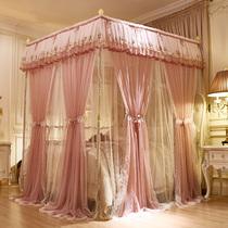 新款公主风蚊帐1.5m1.8m床双人家用加密加厚宫廷三开门落地式床幔
