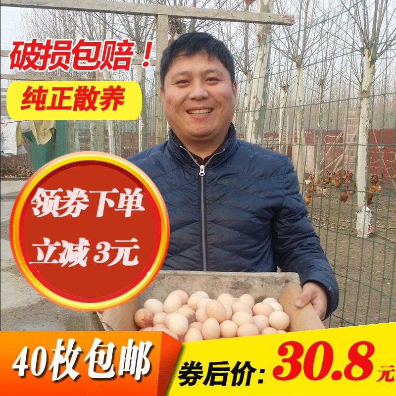 77胖子家土鸡蛋农家散养土鸡蛋新鲜柴鸡蛋草鸡蛋笨鸡蛋月子蛋40枚