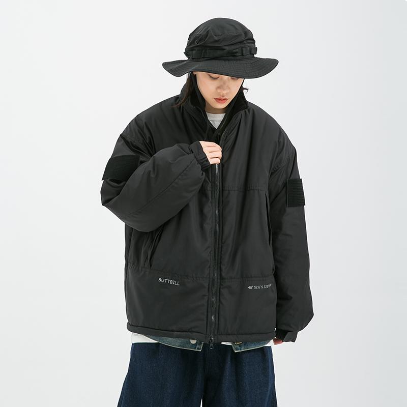 BUTTBILL 19AW冬季新款印花户外防风加厚棉服宽松滑雪冲锋外套男