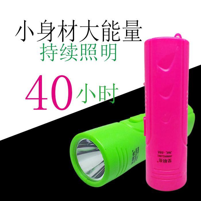 充电锂电迷你家用小手电筒 紫光灯验钞超亮强光老人儿童便携包邮