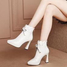 2020新ro2韩款蕾丝ns鱼嘴靴春季短靴夏天女鞋高跟凉鞋罗马鞋