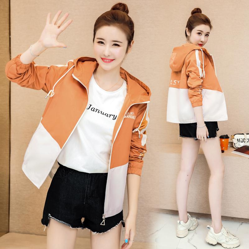 拼色气质韩版百搭宽松休闲时尚显瘦修身清纯甜美短款外套 P130-朵朵美品会-