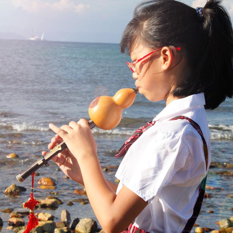 云南葫芦丝乐器初学降B调C调小学生紫竹专业演奏型儿童胡芦丝乐器