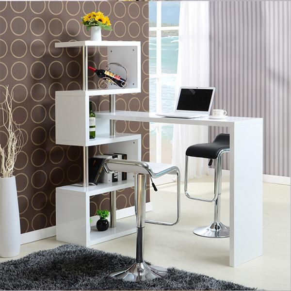 简易靠墙旋转酒柜吧台桌家用吧台酒柜组合玄关隔断柜客厅酒吧桌椅