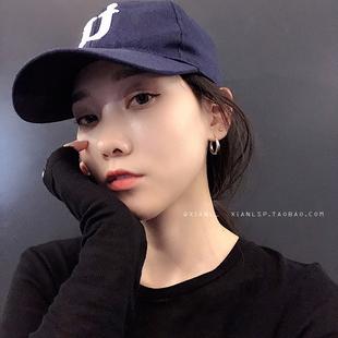 设计感耳环小众耳圈女小气质韩国简约酷帅新款2019网红性冷淡风潮