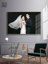 照片相框定制挂墙来图定做lu9约结婚水ft婚纱照放大韩国艺匠