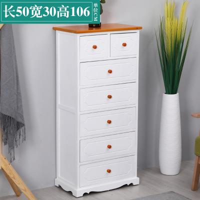 床头柜简约现代实木五斗柜收纳柜子抽屉柜美式欧式五六七斗橱特价