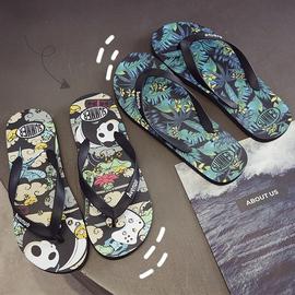 夏季人字拖个性室外沙滩潮流韩版防滑新款夹脚外穿凉鞋凉拖鞋男士