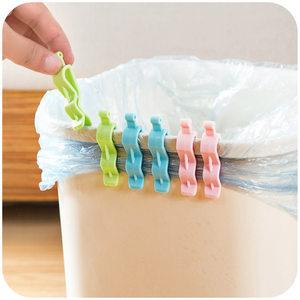 垃圾袋夹子垃圾桶防滑卡子创意桶边夹卡扣固定器家用垃圾夹固定夹