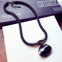 韩款新款热销时尚流th6复古风格wh短款锁骨项链装饰配饰品