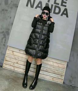 长马夹加大码女装冬装韩版毛领加厚外套洋气棉服宽松棉衣连帽马甲