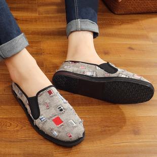中国风老北京布鞋男款青年春季千层底男鞋休闲鞋透气开车鞋672007