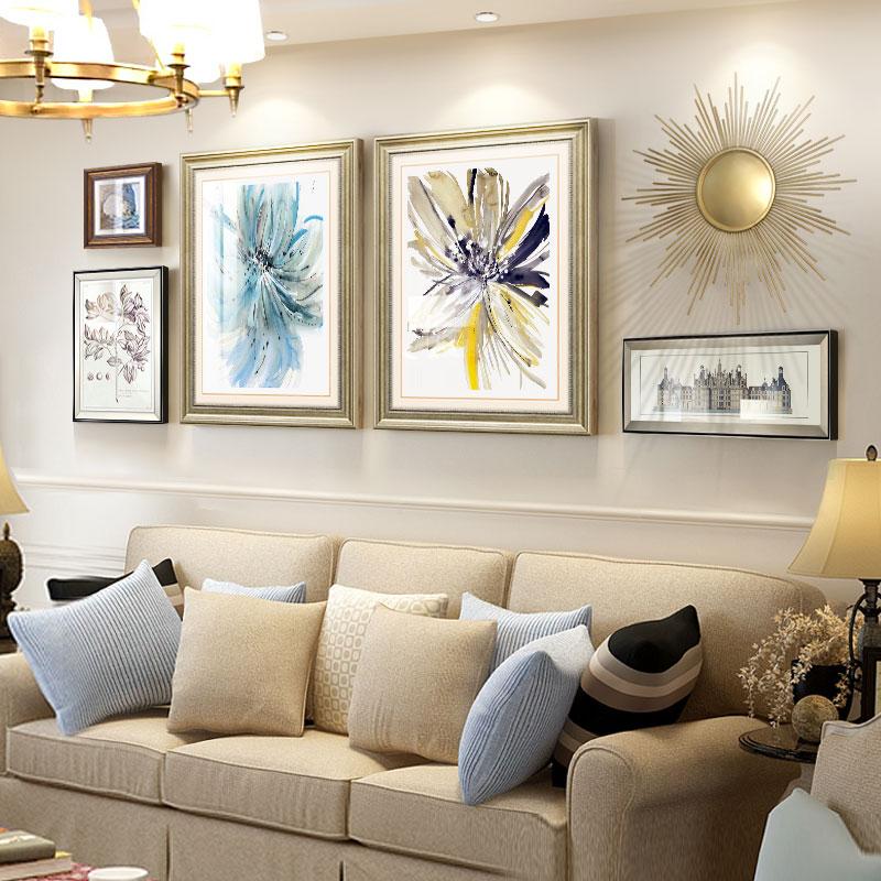 美式挂画欧式客厅装饰画轻奢简美壁画北欧风格沙发背景墙现代简约