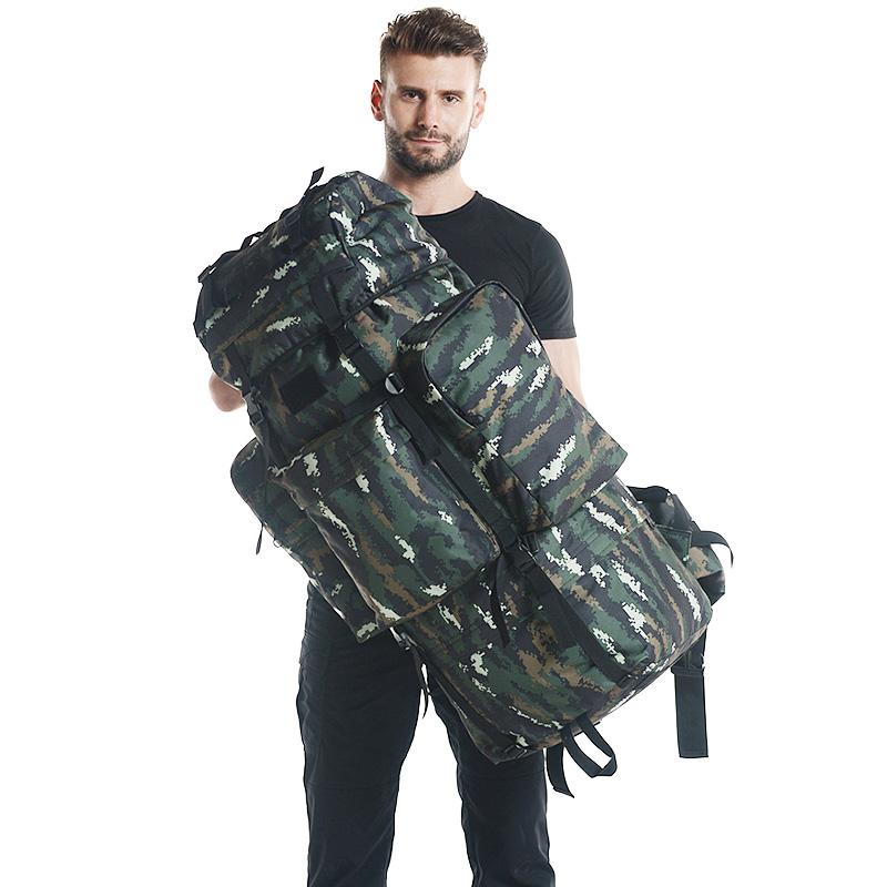 户外登山包双肩男女大容量旅行包徒步包特种单兵07迷彩行军背囊男