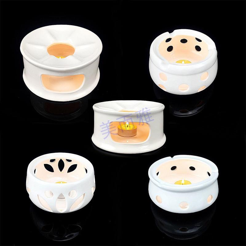 纯白陶瓷炉茶壶炉座炖盅炉座蜡烛炉温茶暖茶炉熏香加热炉底座包邮