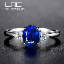 LAC Advanced Jewelry Sri Lanka Natural Sapphire Ring Female 18K Gold Customized Inlaid Coloured Jewelry Certificate